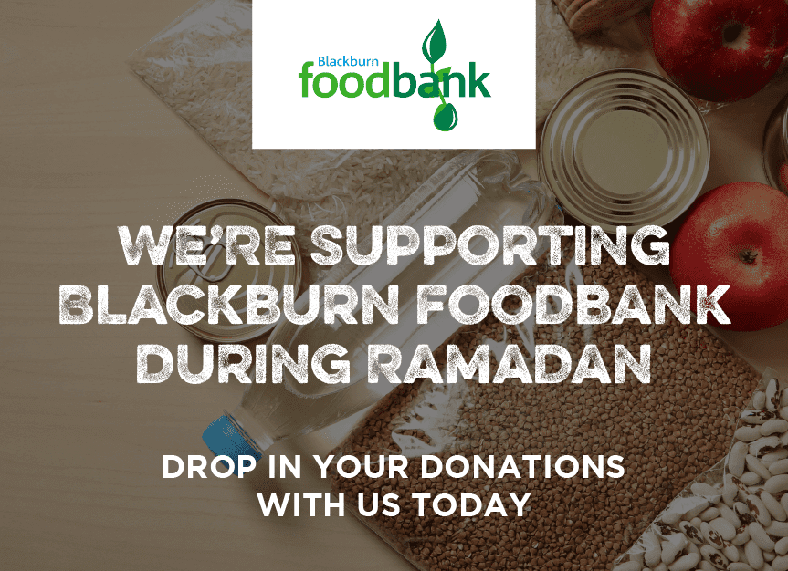 We're Supporting Blackburn Foodbank
